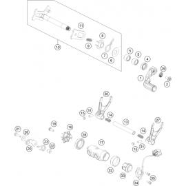 Mécanisme Chgt vitesse ( KTM 450 SX-F-CAIROLI 2020 )