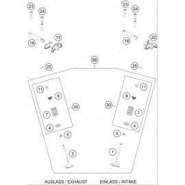 Culbuteurs, soupapes ( KTM 450 SX-F-CAIROLI 2020 )