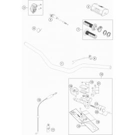 Guidon, Commandes ( KTM 125 SX 2021 )