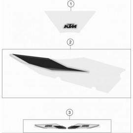 Décos, adhésif ( KTM 125 SX 2021 )
