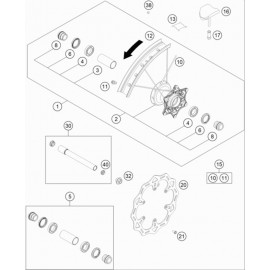 Roue avant ( KTM 125 SX 2021 )