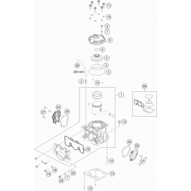 Cylindre, culasse ( KTM 125 SX 2021 )