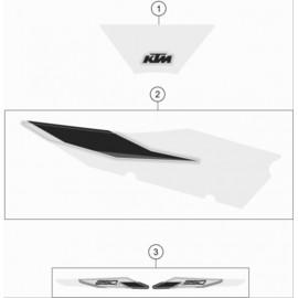 Décos, adhésif ( KTM 250 SX 2021 )