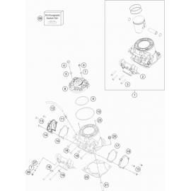 Cylindre, culasse ( KTM 250 SX 2021 )