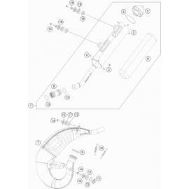 Echappement ( KTM 150 SX 2021 )