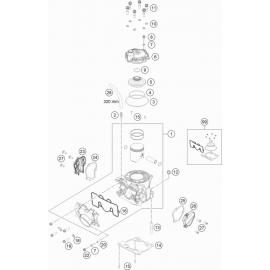 Cylindre, culasse ( KTM 150 SX 2021 )