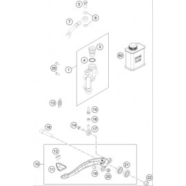 Commande de frein arrière ( KTM 250 SX-F 2021 )