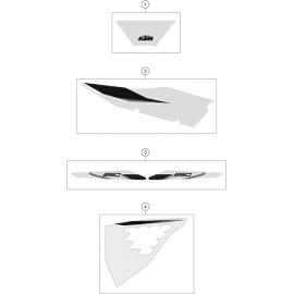 Décos, adhésif ( KTM 250 SX-F 2021 )