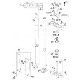 Fourche avant, Té de fourche ( KTM 525 EXC-R 2003 )