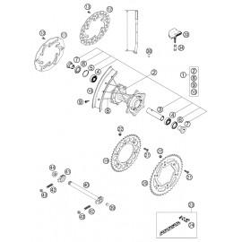 Roue arrière ( KTM 525 EXC-R 2003 )