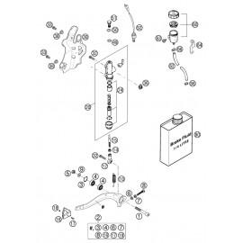 Commande de frein arrière ( KTM 525 EXC-R 2003 )
