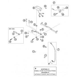 Instrumentation, blocage colonne ( KTM 525 EXC-R 2003 )