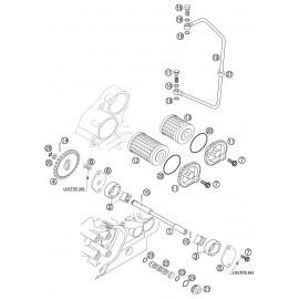 pompe à huile ( KTM 525 EXC-R 2003 )