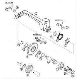 Kick de démarrage ( KTM 525 EXC-R 2003 )