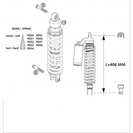 Amortisseur arrière ( KTM 525 EXC-R 2003 )