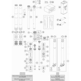Fourche avant éclatée ( KTM 350 SX-F 2021 )