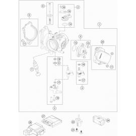Papillon, corps d'injection ( KTM 350 SX-F 2021 )