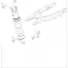 Amortisseur arrière ( KTM 450 SX-F 2021 )