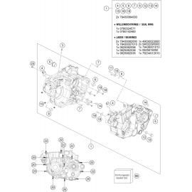 Carter moteur ( KTM 450 SX-F 2021 )