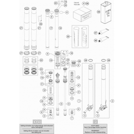 Fourche avant éclatée ( KTM 250 SX-F-TROY-LEE 2021 )