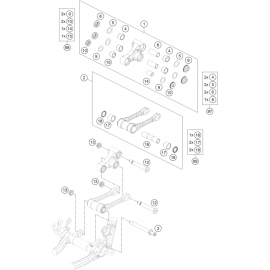 Biellette ( KTM 250 SX-F-TROY-LEE 2021 )