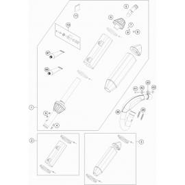 Echappement ( KTM 250 SX-F-TROY-LEE 2021 )