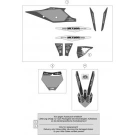 Décos, adhésif ( KTM 250 SX-F-TROY-LEE 2021 )