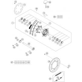 Roue arrière ( KTM 250 SX-F-TROY-LEE 2021 )