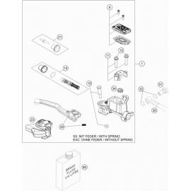 Cylindre de frein avant ( KTM 250 SX-F-TROY-LEE 2021 )