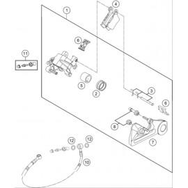 Etrier de frein arrière ( KTM 250 SX-F-TROY-LEE 2021 )