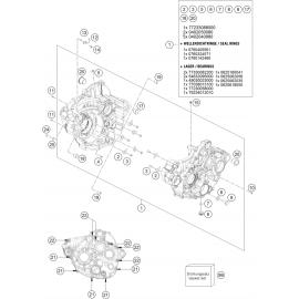 Carter moteur ( KTM 250 SX-F-TROY-LEE 2021 )