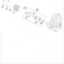 Pompe à eau ( KTM 250 SX-F-TROY-LEE 2021 )