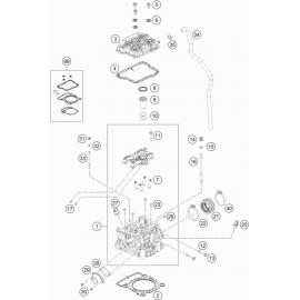 Culasse ( KTM 250 SX-F-TROY-LEE 2021 )