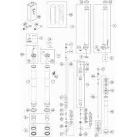 Fourche avant éclatée ( KTM 85 SX-19-16 2021 )