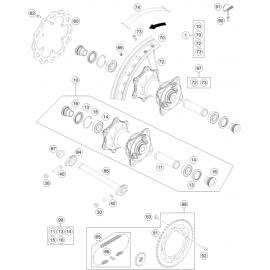 Roue arrière ( KTM 85 SX-19-16 2021 )