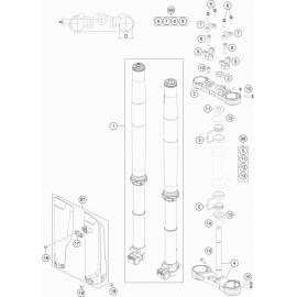 Fourche avant, Té de fourche ( KTM 85 SX-17-14 2021 )