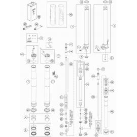 Fourche avant éclatée ( KTM 85 SX-17-14 2021 )