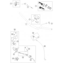 Guidon, Commandes ( KTM 85 SX-17-14 2021 )