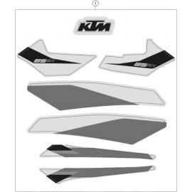 Décos, adhésif ( KTM 85 SX-17-14 2021 )