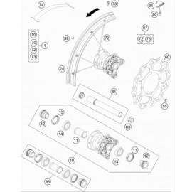 Roue avant ( KTM 85 SX-17-14 2021 )