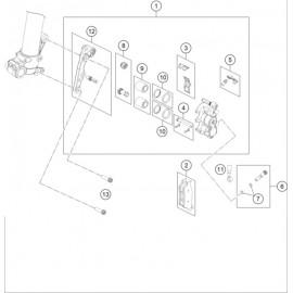 Etrier de frein avant ( KTM 85 SX-17-14 2021 )