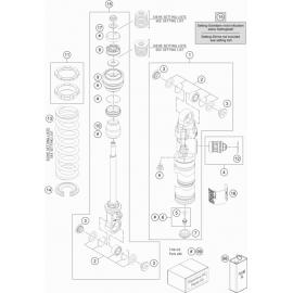 Amortisseur arrière éclaté ( KTM 65 SX 2021 )