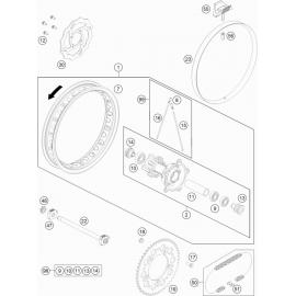 Roue arrière ( KTM 65 SX 2021 )