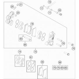 Etrier de frein avant ( KTM 65 SX 2021 )