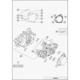 Carter moteur (Husqvarna TE 125 2015)