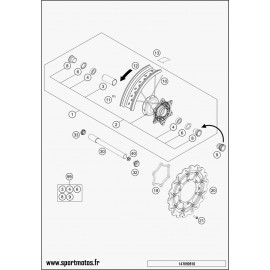 ROUE AVANT CPL. 3,5X16,5 (Husqvarna FS 450 2015)