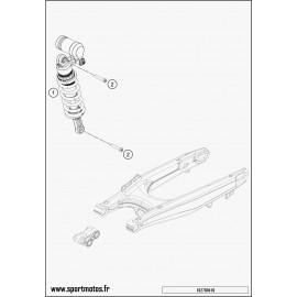 Amortisseur arrière (Husqvarna SUPERMOTO 701 2016)