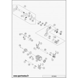 Mécanisme Chgt vitesse (Husqvarna FE 250 2016)