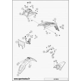 Plastiques, garde-boue, écope, plaque latérale (Husqvarna ENDURO 701 2016)