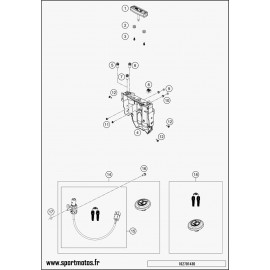 Instrumentation, blocage colonne (Husqvarna ENDURO 701 2016)